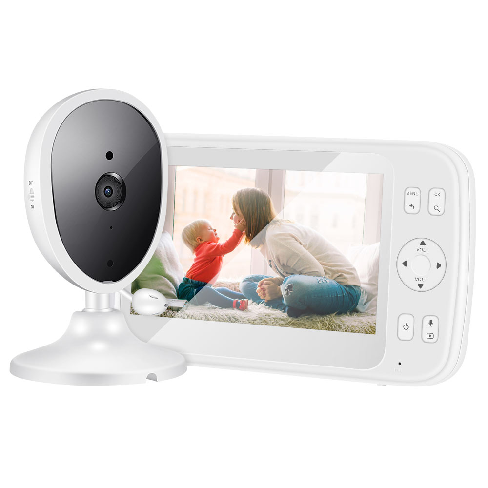 5.0 Inch Baby Monitor with Camera Wireless Video Color HD Nanny Security Night Vision Temperature Camera Baby Monitor Set