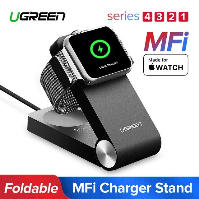 Беспроводное зарядное устройство Ugreen для Apple Watch, складная сертифицированная MFi зарядка, кабель 1,2 м для Apple Watch Series 4/2/1