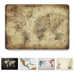 Dla Macbook Pro 13 cal przypadku A1708 mapa świata jasne matowy Hatd pokrywa laptopa dla Apple Mac book 13.3 ''a1278 A1502 A2159 2019 przypadku