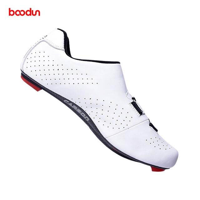 Tênis profissionais para ciclismo de estrada, calçados ultraleve de couro de fibra de carbono, para corrida e estrada, novo, 2020 3