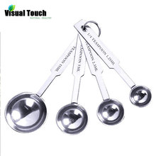 Gadget Spoons Measuring-Spoon Stainless-Steel Scoops Baking Kitchen Set Tea Visual-Touch