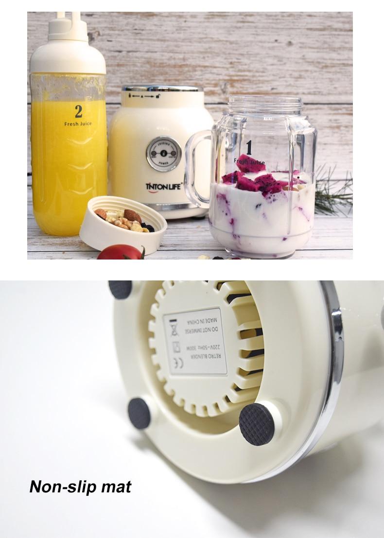 H24ce35e1a9954d47b5ebc6cc6ef4d866S TINTONLIFE 220V Juicer Electric Multifunction Juice Blender Fruit Vegetables Food Maker With 550ml/600ml Portable Juice Cup