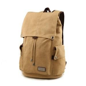 Image 2 - Men backpack leisure shouldertravel Retro canvas backpacks mens bags student school bag computer bags