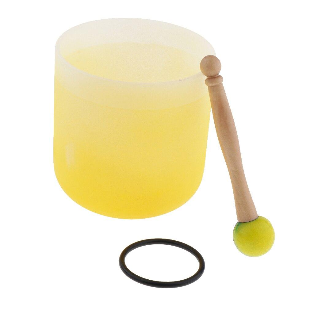 Cristal chantant bol C Note coeur Chakra 6 pouces (joint torique et maillet en caoutchouc inclus), aider les gens à méditer-4 couleurs en option - 3