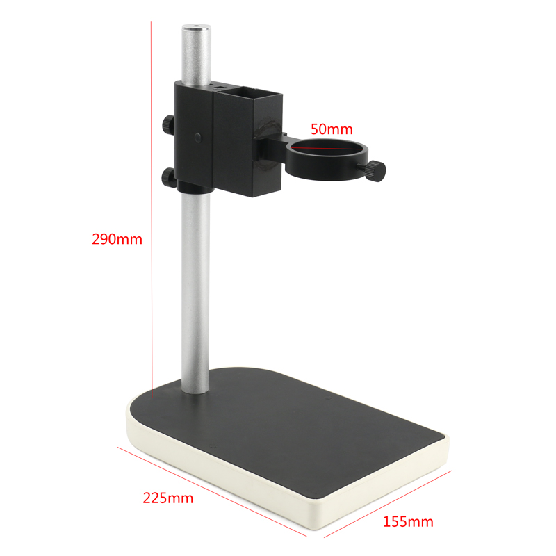 Lab Microscope Lens Adjustable Focusing Bracket Focusing Holder Table Stand 40mm 50mm For HDMI USB Video Camera
