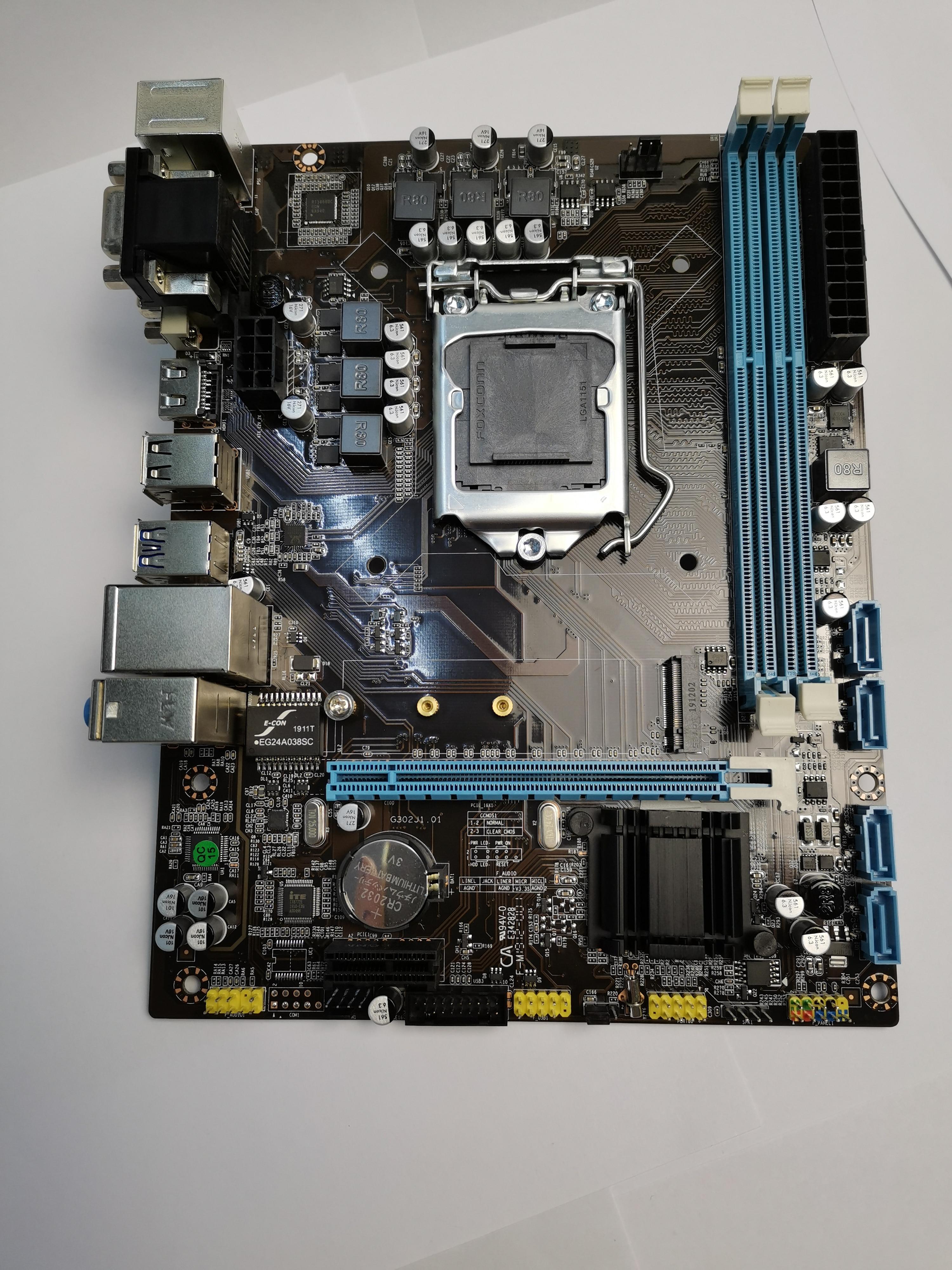 Intel H110 placa base LGA 1151 DDR3 16GB para Intel H110 placa base de escritorio SATA II 6/7/8rd (SKYlake) Intel 14nm CPUs