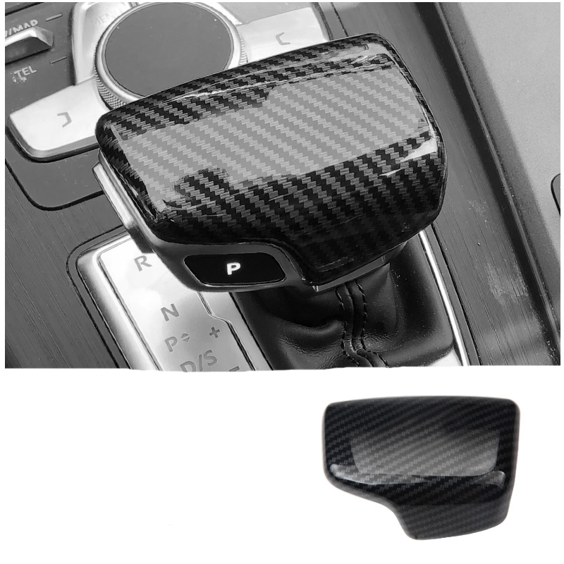 Car Gear Shift Knob Cover Collars For Audi A4L A6L A5 A3 A7 Q5 Q7 Q2L ABS Trim Sticker Fit For Left Hand Drive