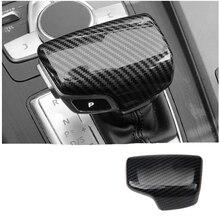 Car Gear Shift Knob Cover Collars For Audi A4L A6L A5 A3 A7 Q5 Q7 Q2L ABS Trim Sticker Fit for Left Hand Drive накладки на педали audi q5 a4l a5 a6l a3 a7