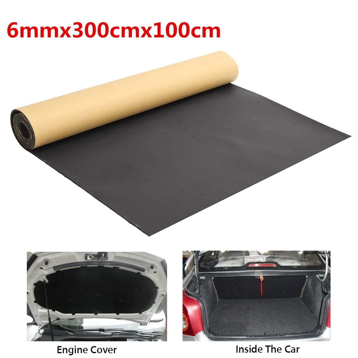 300x100cm voiture Auto insonorisant coton Automobiles insonorisé isolation thermique coussin mousse tapis tapis intérieur accessoires