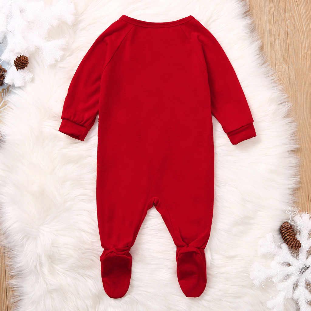 Hot sale Newborn Infant Baby Girl Boy Christmas Xmas Deer Romper Jumpsuit Outfits Infant Long Sleeve Christmas Deer One Piece