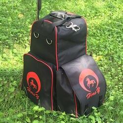 Западный английский Boot Carry All Bag, Equine спортивный военный транспортер сумка-рюкзак с отсеком для шлема