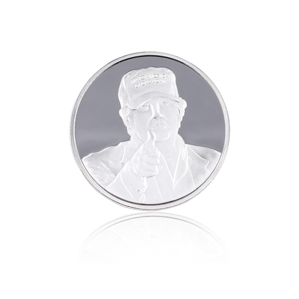 Venta caliente Trump Coin 24k Silver Plated Silver Coin The American - Decoración del hogar - foto 5