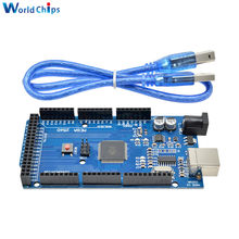 MEGA2560 Mega 2560 R3 REV3 ATmega2560-16AU CH340G Board Module ON USB Cable Compatible for AVR USB Board USB Line(China)