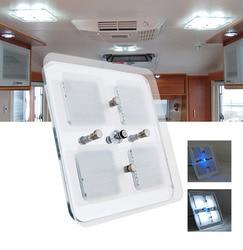 Nuevo 600 lúmenes LED lámpara 12/24V CC Techo Luz LED blanco frío techo de cristal caravana/RV/autocaravana/marina