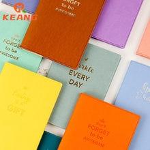 Keang capa do plutônio caderno cor engrossado diário estudante material de papel de escritório criativo papelaria wj1