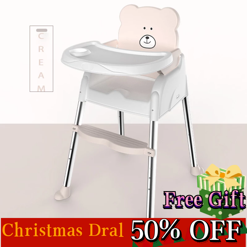 Baby High Chair Seat Feeding Dinner Table Multifunction Adjustable Children Folding Portable Eatting Safety 2 in 1