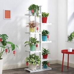 W kwiaty do postawienia na półkę wielopoziomowy kryty specjalny balkon mięsisty zielony stojak na doniczki z litego drewna salon prosty stojak podłogowy