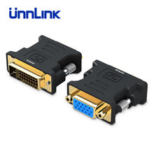 Unnlink DVI to VGA Converter Active DVI D(24+1) DVI I(24+5) to D Sub VGA Adapter FHD 1080P@60Hz for PC Computer Mainboard DVI(China)