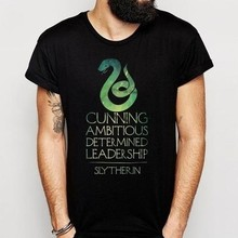 Slytherin Crest Logo Tumblr Hipster Quote Pria T Shirt XS Fashion Musim Panas T-shirt(China)