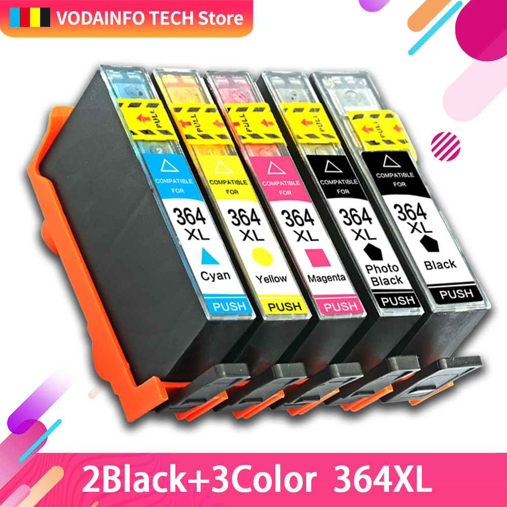 QSYRAINBOW printer ink cartridge 364XL <font><b>HP</b></font> <font><b>364</b></font> XL replace for <font><b>HP</b></font> Photosmart 5510 5515 6510 B010a B109a B209a Deskjet 3070A HP364 image