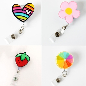 1pc Retractable Nurse Badge Reel Clip Students ID Card Badge Holder Accessories Cute Id Badge Reel School Supplies