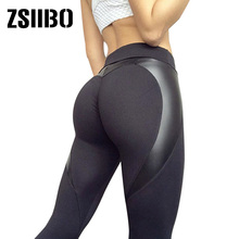 Fitness Leggings Pants Printing Black High-Waist Ladies New Twill Hips