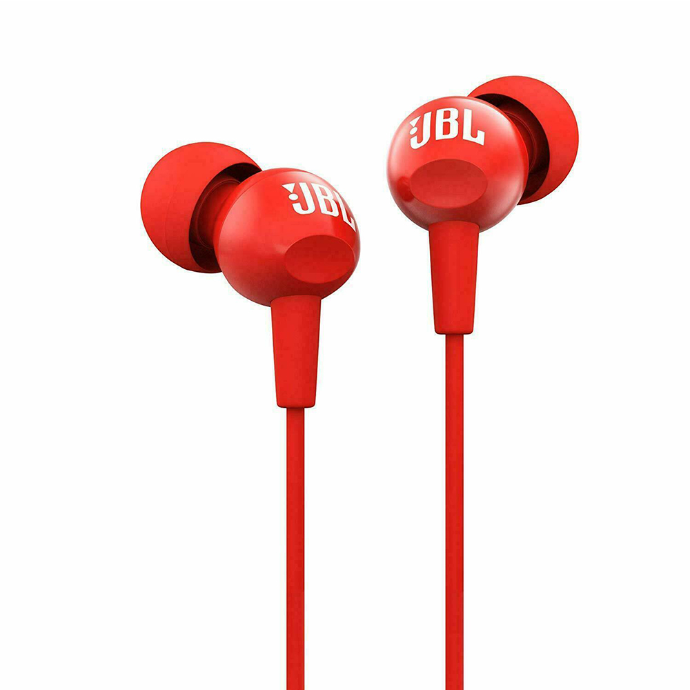 Original JBL C100Si Stereo Wired Headphones Deep Bass Music Sports 3.5mm Headset In-ear Earbuds With MIC By HARMAN 2