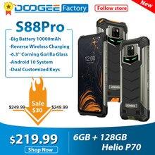DOOGEE S88 Pro IP68/IP69K wytrzymały telefon komórkowy 10000mAh 6.3 ''FHD + Smartphone Helio P70 Octa Core 6GB 128GB Android 10 telefony