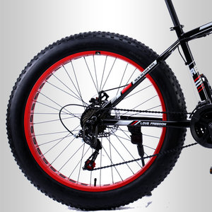 Image 4 - 愛自由 7/21/24/27 スピードマウンテンバイクアルミフレーム脂肪バイク 26 インチ * 4.0 tiresnow自転車無料配信