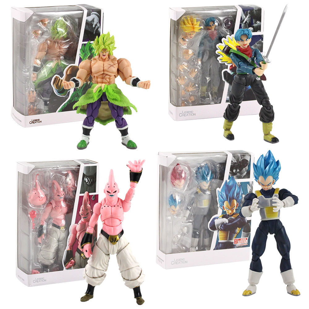 6Pcs//Set Dragonball Z Dragon ball DBZ Goku Piccolo Figure Kid Toy anniversaire cadeau