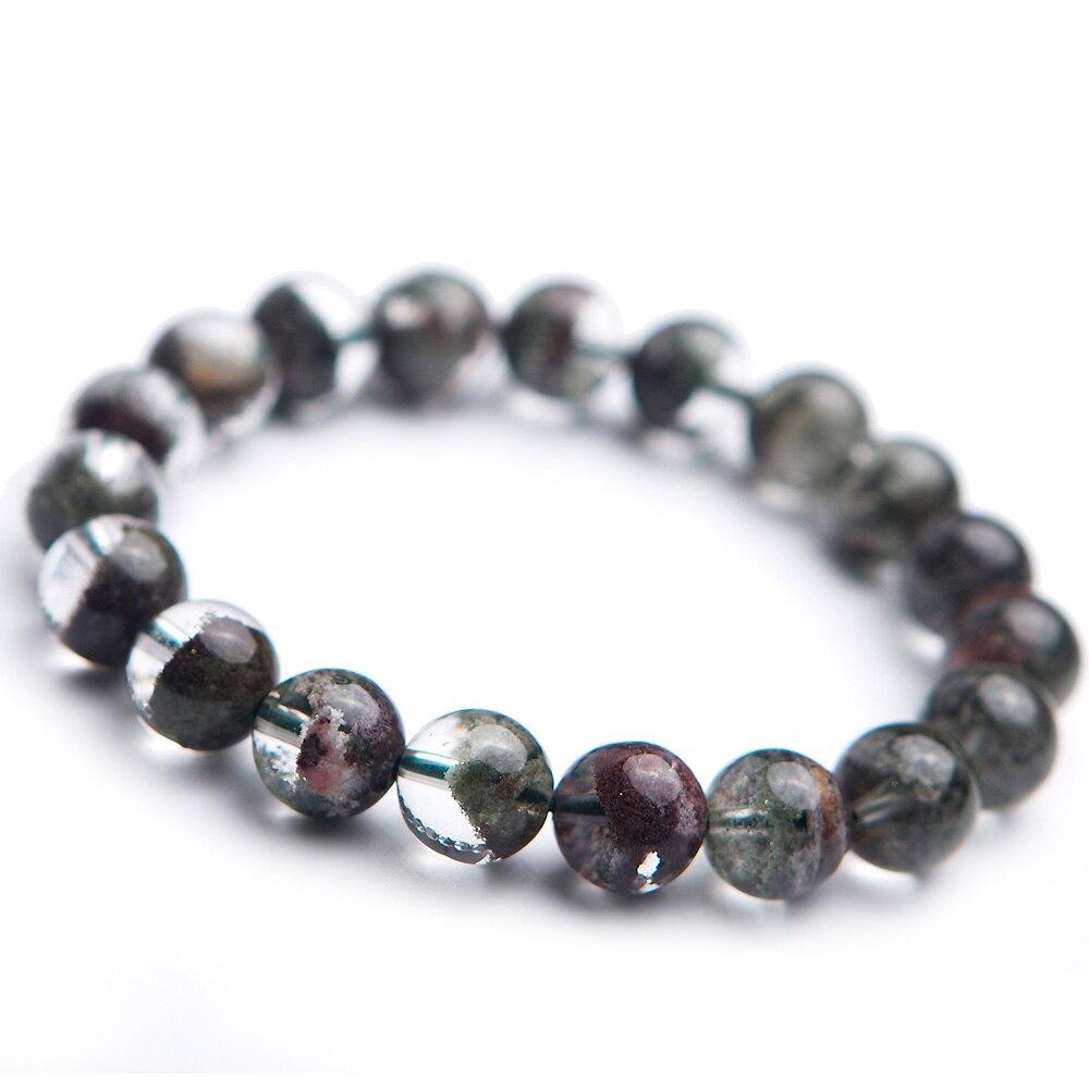 Bracelet Quartz fantôme vert naturel Chlorite fantôme 10mm cristal clair perles rondes extensible jardin femmes hommes AAAAA