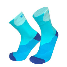 New 6 Color Cycling Socks Fleet Bicycle Socks Outdoor Sports Running Socks