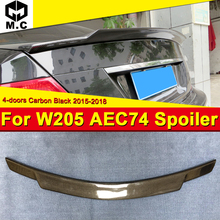Fits For MercedesMB W205 4Matic Carbon fiber Trunk spoiler wing C74 style C class 4-DR C180 C200 C250 wing rear spoiler 2015-18 недорого