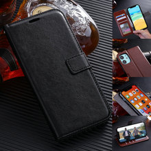 Flip Leather Case for iPhone 11 Pro X XS MAX XR 6 6S 7 8 Plus 5 5S Book Shell Wallet Cover With Card Slots Money Pocket 3 card slots wallet crazy horse leather mobile case for iphone 7 plus 5 5 brown