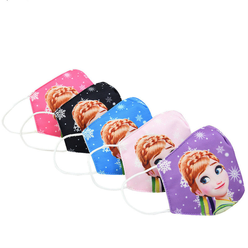 Disney Frozen Adult Children Face Mouth Mask Washable Mouth-muffle Respirator Cartoon Cottons Masks Outdoor Health Care Masks