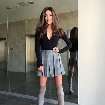 CNYISHE 2020 Casual Fitness Rompers Women Bodysuit Long Sleeve Regular Zipper Jumpsuit Women Fashion Streetwear Outfits Overalls 5