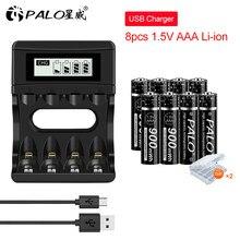 Baterie PALO 1.5V AAA akumulator AAA 1.5V Li-ion Batteria i ładowarka akumulatorów litowych 1.5V do latarki zdalnej