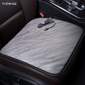 FUZHKAQI 12V Heated car seat cover for Ford all models kuga fiesta mondeo fusion focus ranger Everest Taurus Ecosport Winte image