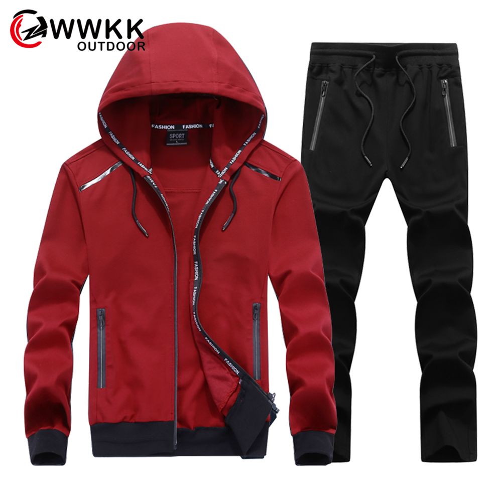Men New Sportswear Set Brand Male Tracksuit Sporting Fitness Clothing Two Pieces Long Sleeve Jacket Pant Casual Mens Track Suit