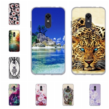 Silicone Cover For Xiaomi Redmi 5 Plus Case TPU Cute Pattern Coque For Redmi 5 Plus Phone Case Paint For Redmi Note 5 Global image