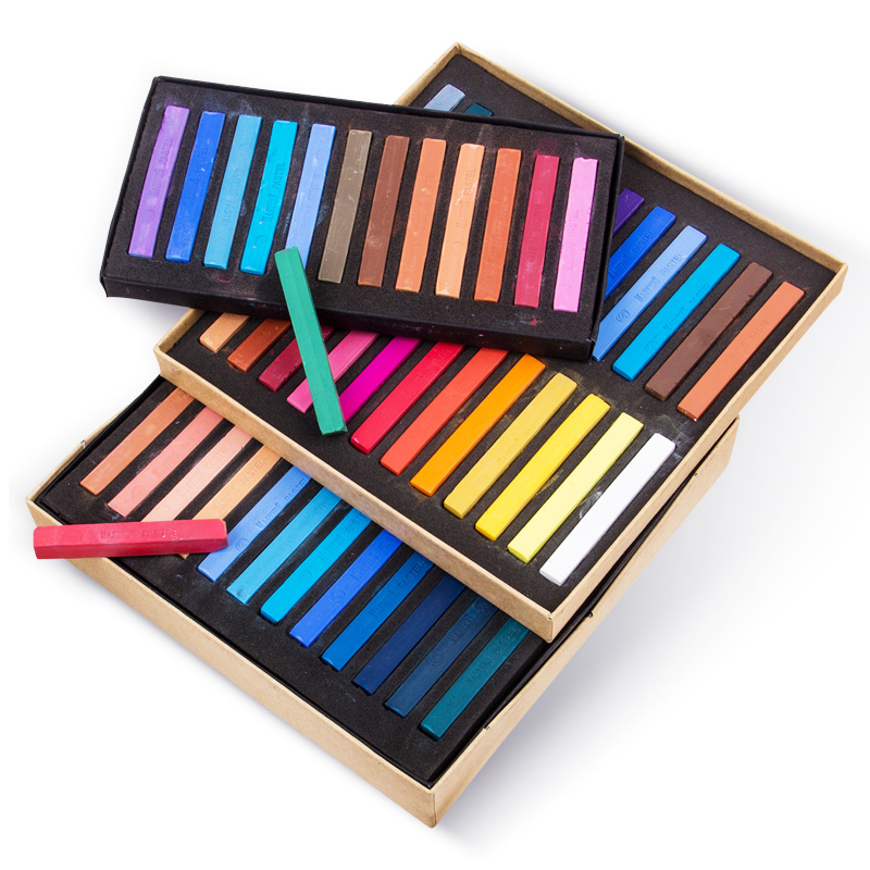 Crayons Soft Dry Pastel 12/24/36/48 Colors/Set Art Drawing Set Chalk Color Crayon Brush Stationery For Students Art Supplies
