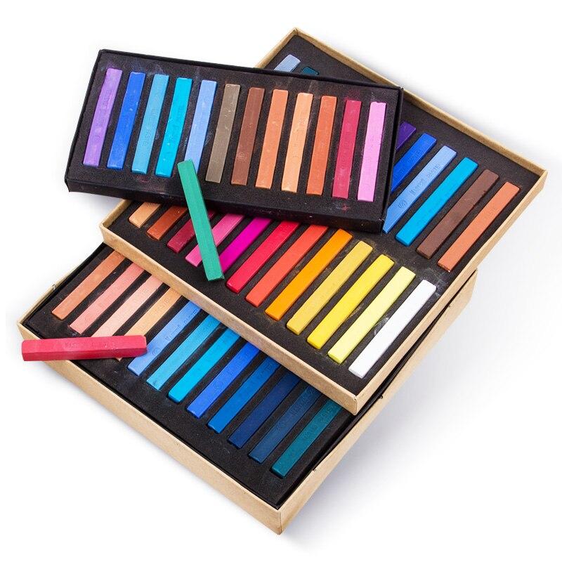 Crayons pastel macio seco/24/36/48 cores/conjunto, jogo de desenho artístico, pincel de artesanato de giz materiais de arte para estudantes