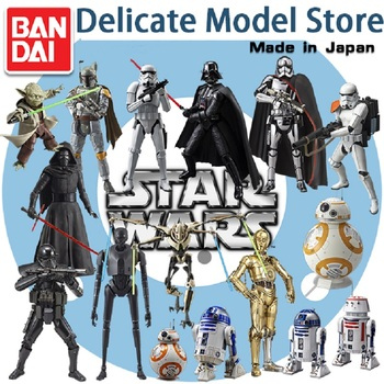 Bandai Assembled Model STAR WARS Star Wars Darth Vader General Grievous White Soldier Black Warrior Yoda  Action Figure Toys funko pop star wars figure toys darth vader luke skywalker leia action figure toys for friend birthday gift collection for model