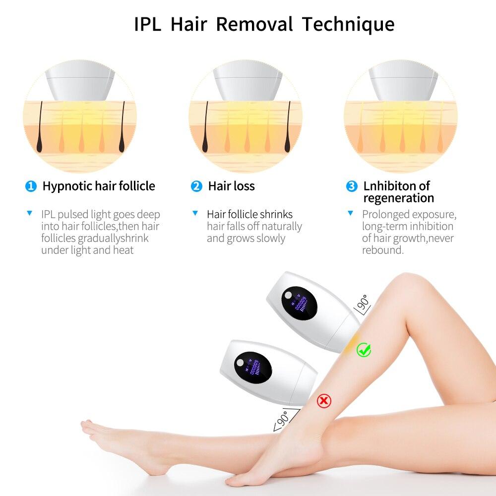 Image 5 - 600000 flash professional permanent IPL Laser Depilator LCD laser hair removal Photoepilator women painless hair remover machine-in Epilators from Home Appliances
