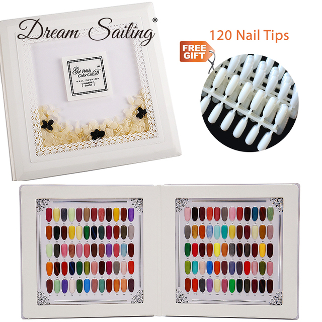 False Nail Color Book Color Display Nail Art Gel Polish Color Card Nail Color Chart Palette Varnish Practice Board Manicure Tool