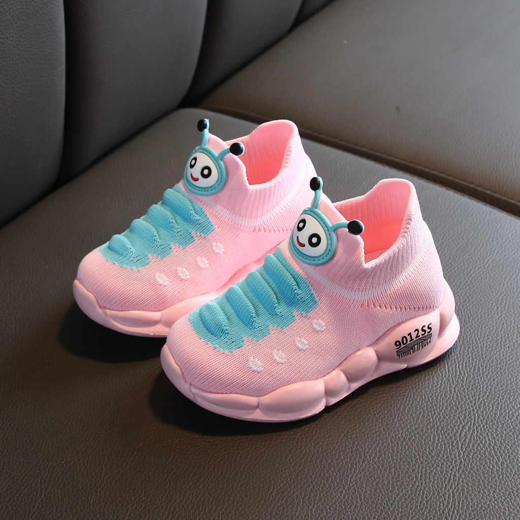 Zapatos para niñas, niños, deporte, malla elástica, niños, dibujos animados, zapatos planos para niñas, Zapatillas para correr, niños, Zapatillas, Nino