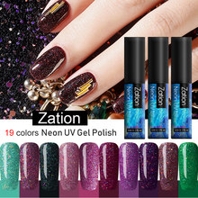 Zation Neon Nail Gel Primer voor Top Coat Nail Vernis Semi-permanente UV LED Lamp Soak Off Nail Gel polish Nagels Art Lak(China)