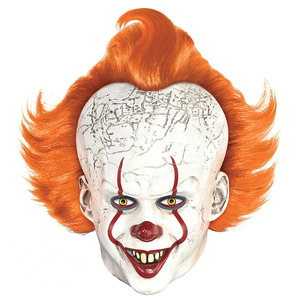 Image 1 - Horror Pennywise Joker Mask Cosplay it chapter 2 Clown Latex Masks Halloween Costume Props Deluxe
