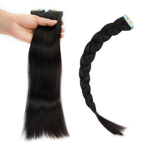 Image 5 - Doreen  Machine Made Remy Tape In Human Hair Extensions 16 to 22 Inch 20 Pcs 50g/Pack Silky Straight PU Seamless Skin Weft
