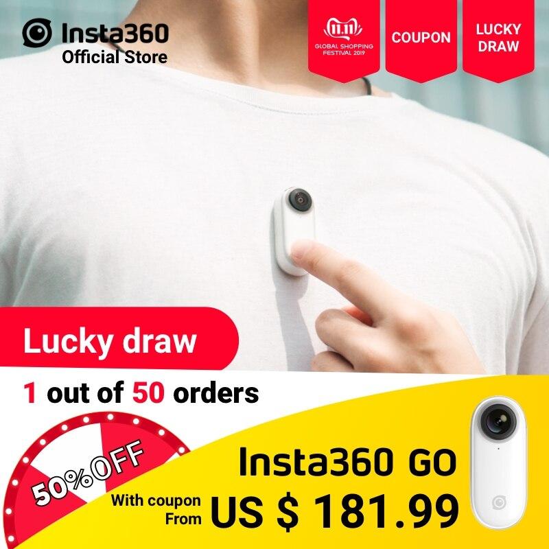 Insta360 go câmera de ação ia edição automática mãos-livres menor estabilizado mini câmera vlog fazendo para iphone e android